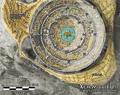 Xemmirrilth Fantasy City Map